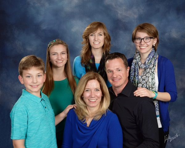 Michael Naborowski, DDS of Naborowski Orthodontics with his family